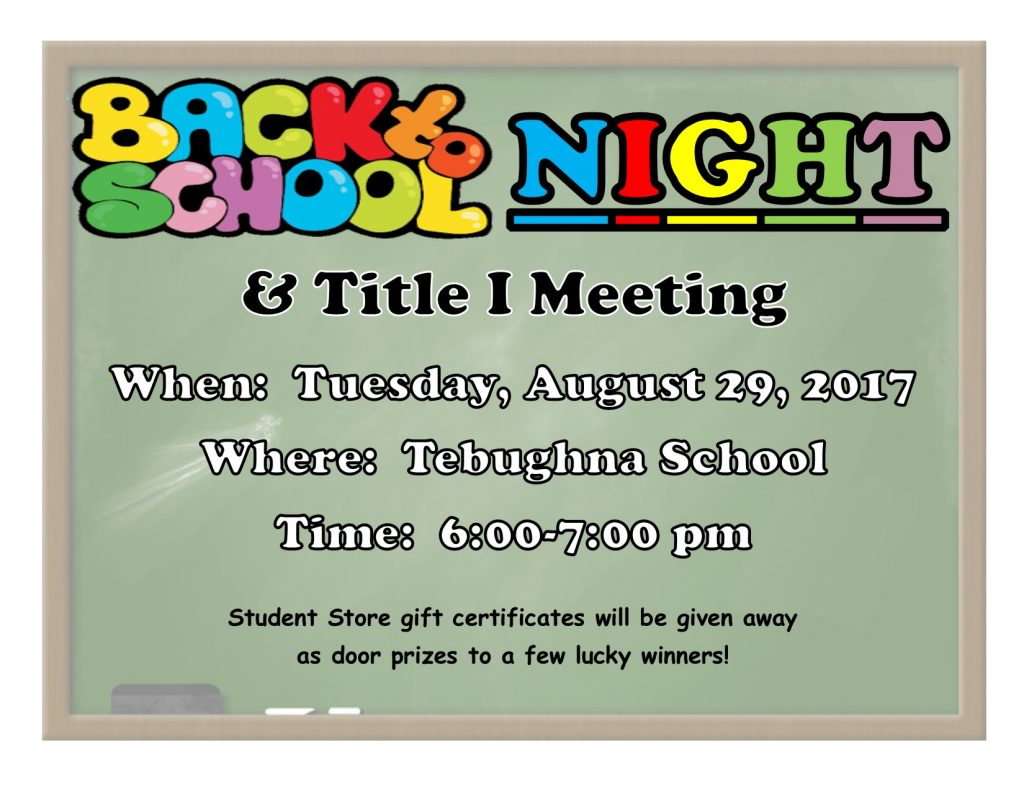 Back to School Night August 2017