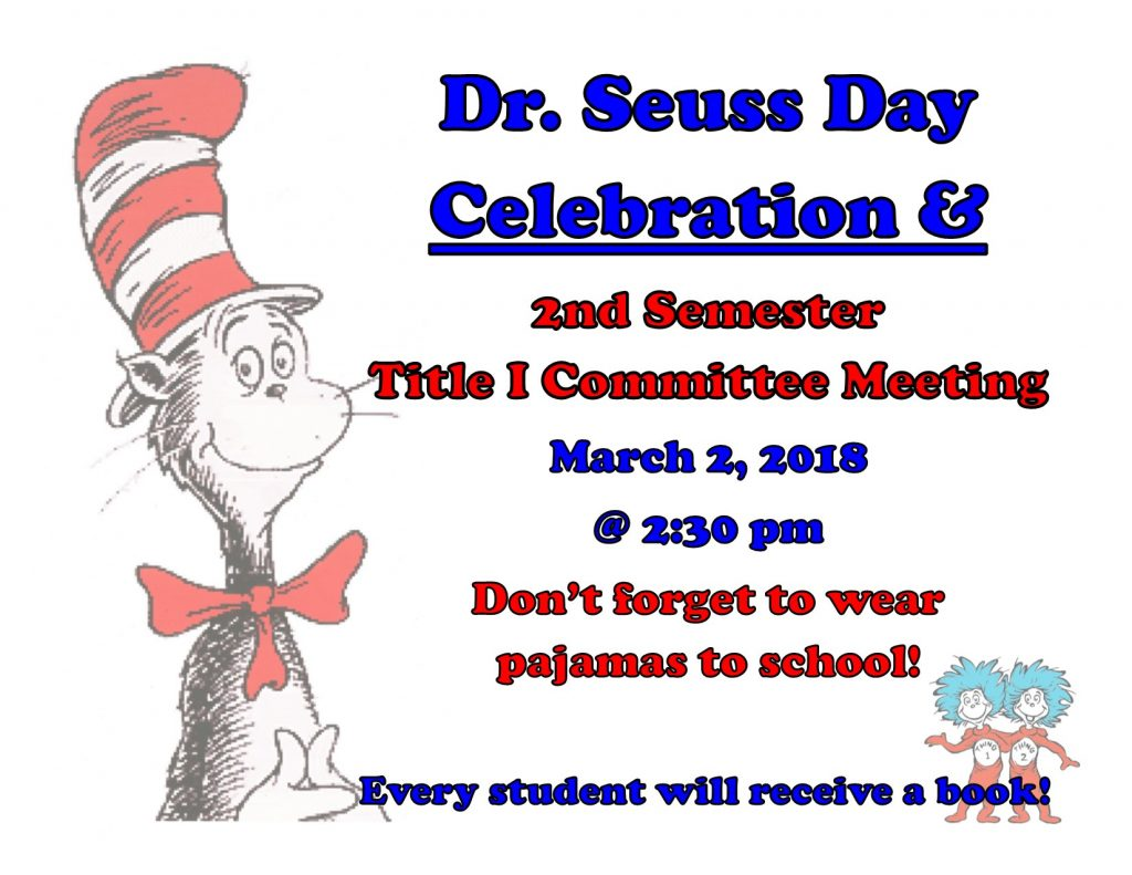 Dr Seuss Celebration - March 2 2018 (2)